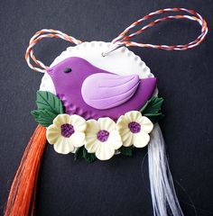 Martisor fimo in stil shabby chic by Melisa Crisan. Polymer clay shabby chic style brooch by Melisa Crisan.