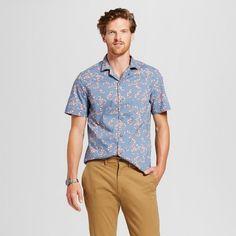 fdd059c830f0 Men s Standard Fit Short Sleeve Button Down Shirt - Goodfellow   Co™ Calm  Blue XL   Target