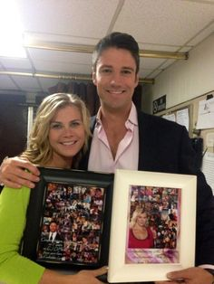James and Alison thank for the beautiful photo collages in frames they sent to them both celebrating 7 years of on Peter Reckell, Alison Sweeney, James Scott, Casting Pics, End Of An Era, Love Days, Days Of Our Lives, Always And Forever, Best Couple