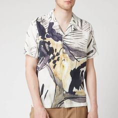 e0039efadaf5f5 Folk Men's Soft Collar Shirt - Orpheus Print - Free UK Delivery over £50
