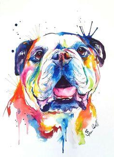 Bulldog Art #buldog