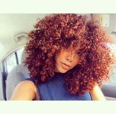 Love this color for curly hair...