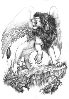 lion-with-wings-tattoo-design.jpg (562×802)