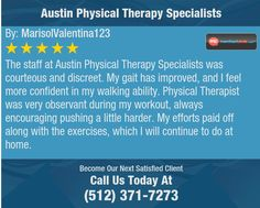 The staff at Austin Physical Therapy Specialists was courteous and discreet. My gait has...