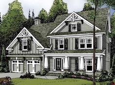 Eplans Traditional House Plan - Craftsman Character - 2465 Square Feet and 3 Bedrooms from Eplans - House Plan Code HWEPL62868