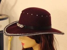Maroon Bling Hand Felted Hat by FancyFeltandFiber on Etsy, $85.00