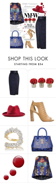 """What to Pack: NYFW"" by amimcqueen ❤ liked on Polyvore featuring Zimmermann, The French Bee, Filù Hats, Sinclair, Stuart Weitzman, Ana Khouri, Ex Voto Paris, Topshop and Romance Was Born"