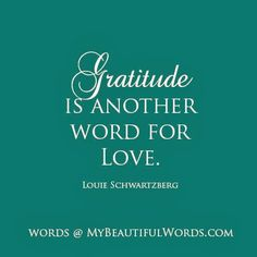 My Beautiful Words.: Gratitude is Another Word for...