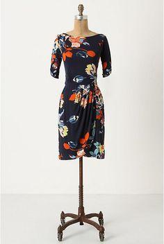 Anthropologie floral jersey dress.