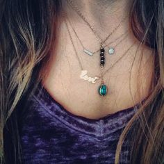 Layered necklace look from Bella boutique in Springfield, IL