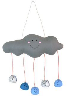 One adorable rain cloud mobile, please!