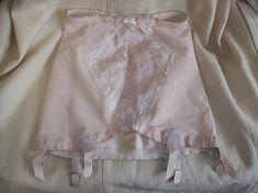 NOS Vintage 60s Perma-Lift Beige Garter Belt Girdle / Size L Large / Rockabilly Pin Up Girl Burlesque Costume