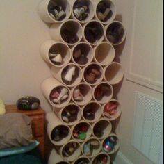PVC pipe for shoes? Awesome!