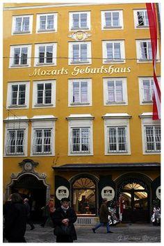 Motzart's birthplace.  Salzburg, Austria.