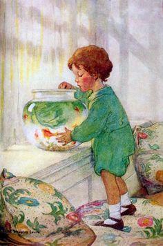 Jessie Wilcox Smith American Illustration, Children's Book Illustration, Book Illustrations, Jessie Willcox Smith, Belle Photo, Vintage Children, Vintage Art, Vintage Paintings, Illustrators