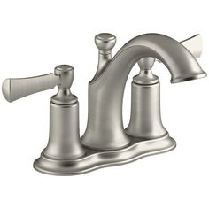 Kohler Elliston Sink : KOHLER Elliston Vibrant Brushed Nickel 2-Handle 4-in Centerset ...