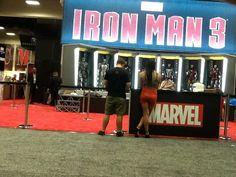 Iron Man 3 booth at #SDCC #Marvel #Ironman