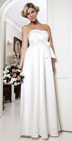 Alice Maternity Wedding Gown (Ivory) - Maternity Wedding Dresses, Evening Wear and Party Clothes by Tiffany Rose Wedding Dresses With Flowers, Wedding Dresses 2014, Wedding Suits, Bridal Dresses, Wedding Gowns, Tiffany Rose, Pregnant Wedding Dress, Maternity Wedding, Pregnant Brides