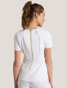 Contemporary medical apparel for men and women. Our scrubs and lab coats combine both fashion and function and are antimicrobial finished. Scrubs Outfit, Scrubs Uniform, Nursing Clothes, Nursing Dress, Dental Uniforms, Beauty Uniforms, Stylish Scrubs, Medical Scrubs, Womens Fashion For Work