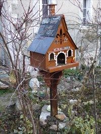 Bird house - Artannes-sur-Indre, France - Unique Bird Houses on Waymarking.com #birdhouses