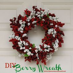 DIY Berry Wreath {Psst...made from dollar store supplies!}