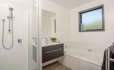 Bathroom with built in bath. New Builds, Bathroom Renos, Bathroom, Built In Bath, Corner Bathtub, House, Home, Bathtub