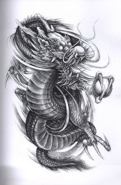 Dragon Tattoo Design tattoo ideas Japanese dragon tattoos, dragon tattoo design - Tattoos And Body Art 3d Dragon Tattoo, Japanese Dragon Tattoos, Japanese Tattoo Art, Dragon Tattoo Designs, Dragon Art, Japanese Art, Body Art Tattoos, Sleeve Tattoos, Top Tattoos
