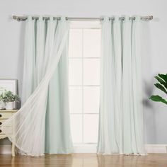 Rosdorf Park Brockham Solid Blackout Thermal Grommet Curtain Panel Pair Curtain Color: Mint, Size: W x L Custom Drapes, Cool Curtains, White Sheer Curtains, Curtains, Panel Curtains, Thermal Curtains, Drapes Curtains, Colorful Curtains, Grommet Curtains