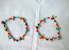 Multicolor Threaded Anklet