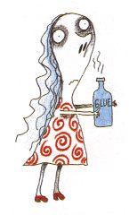 """Sue · Personaje de Tim Burton en """"The melancholy death of Oyster boy"""""""
