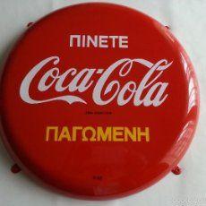 Coca Cola Placa Chapa de Nepal de 1964 Nepal Coca Cola Button Sign