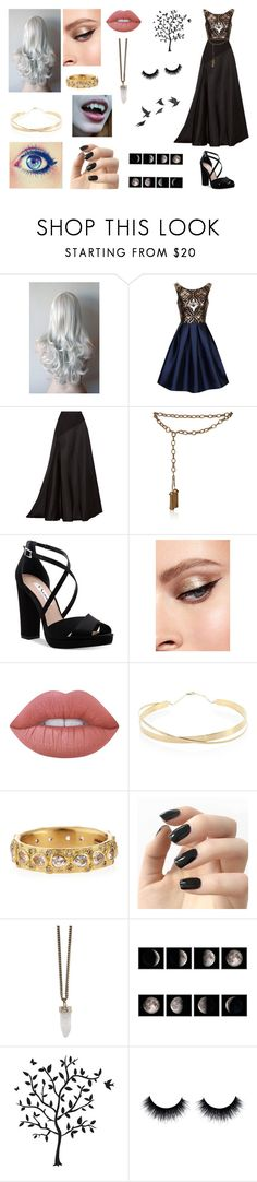 """Arcadia ~ Formal outfit"" by pastelkittyxx ❤ liked on Polyvore featuring beauty, Chi Chi, Lanvin, Yves Saint Laurent, Nina, Lime Crime, Lana Jewelry, Armenta, Incoco and Givenchy"