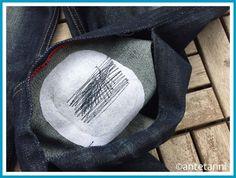 antetanni-repariert_riss-hosenbein-jeans-fix-it_innen-flicken-stopfstich Drawstring Backpack, Backpacks, Bags, Fashion, Beautiful Things, Hiking, Legs, Handbags, Moda