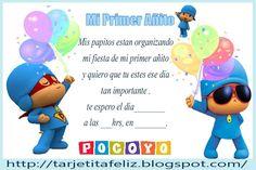 Invitaciones De Cumpleaños De Pocoyo Para Poner De Fondo 2  en HD Gratis