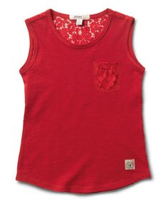 bcb7c024 Love this Raspberry Lace Pocket Tank - Girls by Silver Jeans Co. on #zulily
