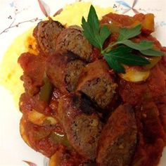 Creamy Polenta with Arrabbiata Sausage Ragout - Allrecipes.com