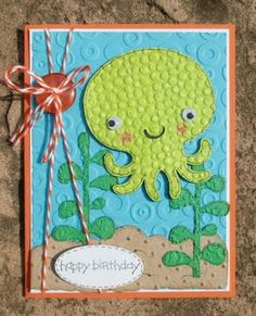 Create a Critter. Birthday Sundaes #13 - Birthday Card with Embossing | My 3 E Scrapbooking