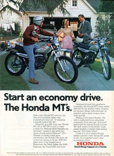 1974 Honda MT-125 MT-250 Motorcycle Advertising Road & Track November 1974
