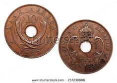 Stock Photos, Royalty-Free Images and Vectors - Shutterstock. East Africa Ten cents dated 1937.