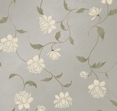 Stencil Peony Allover Floral Pattern - Wall decor stenciling - DIY. $46.95, via Etsy.