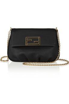 Fendi+Fendista+mini+leather+shoulder+bag+|+NET-A-PORTER