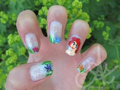 Little Mermaid Nail Art by ~zinajorna on deviantART http://zinajorna.deviantart.com/art/Little-Mermaid-Nail-Art-317654875