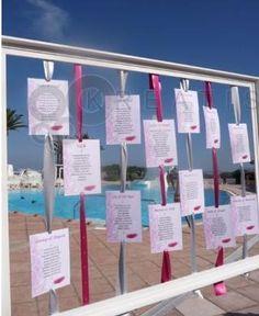 plan de table cadre - on pourrait mettre les photos et la liste des invités par table