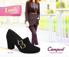 Um look lindo para você começar a semana de forma elegante, clássica e em cima do salto!  #lookCampesí