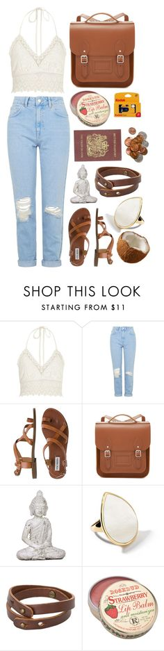 """""""you may think that he's a demolition expert"""" by hopelessly-wandering ❤ liked on Polyvore featuring River Island, Topshop, Steve Madden, The Cambridge Satchel Company, Ippolita, MANGO, Passport, women's clothing, women and female"""