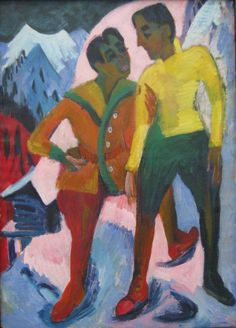 Two Brothers by @artistkirchner #expressionism