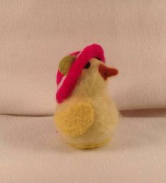 Needle felted wool Easter Spring Chick yellow by RitasReCreations, $18.00