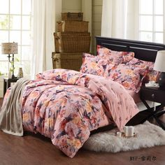 Yous Home Textiles!Pure Cotton Fashion Printed nice Brushed 4pcs Bedding Sets/Duvet Cover Bedding Sheet Bedspread Pillowcase  $126.00 - 128.00