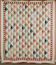 MUSEUM QUALITY Vintage 1880's Birds in Flight Sawtooth Antique Quilt ~A+ BORDER!, eBay, french72
