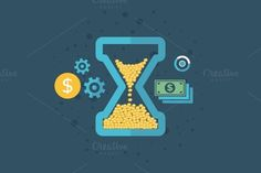 time is money by Vector30.com on Creative Market